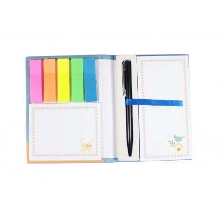 Pack bloc de notes marque page index couleur et stylo intégré - alien sur la Terre