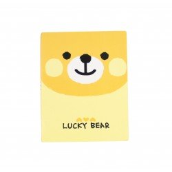 Kit de bloc notes memo et marque pages repositionnables ourson kawaii