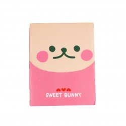 Kit de bloc notes memo et marque pages repositionnables lapin kawaii