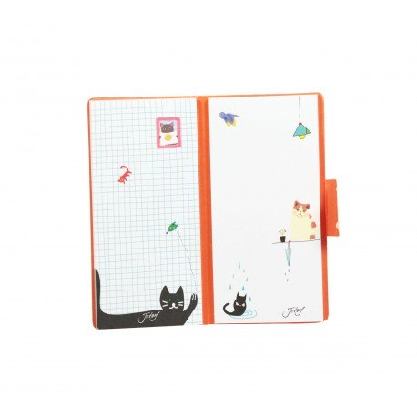 Bloc de notes kawaii choo choo chat blanc et univers merveille