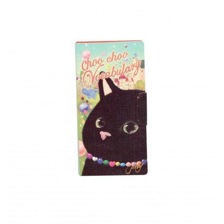 Bloc de notes kawaii choo choo chat noir et rêve de printemps