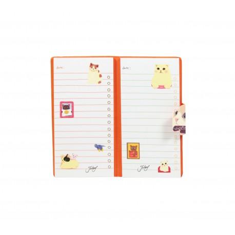 Bloc de notes kawaii choo choo chatons école et biscuits en forme de lettres
