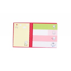 Kit de bloc notes memo et marque pages repositionnables des chatons blancs kawaii