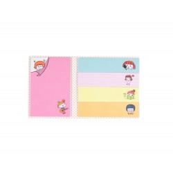 Kit de bloc notes memo et marque pages repositionnables petite fille rousse