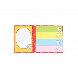 Kit de bloc notes memo et marque pages repositionnables kawaii lapins blancs
