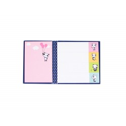 Kit de bloc notes memo et marque pages repositionnables kawaii panda