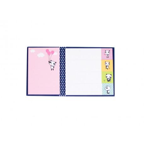 Kit de bloc notes memo et marque pages repositionnables kawaii panda