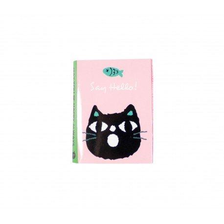 Kit de bloc notes memo et marque pages repositionnables chaton noir et ses amis