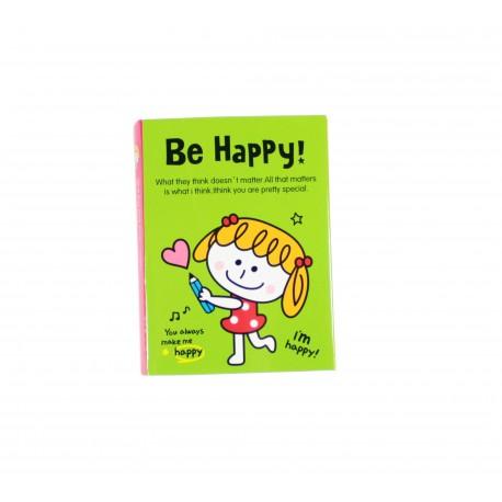 Kit de bloc notes memo et marque pages repositionnables happy girl et ses copains