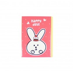 Kit de bloc notes memo et marque pages repositionnables happy lapin