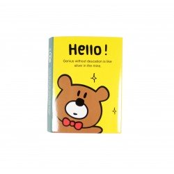 Kit de bloc notes memo et marque pages repositionnables hello bear