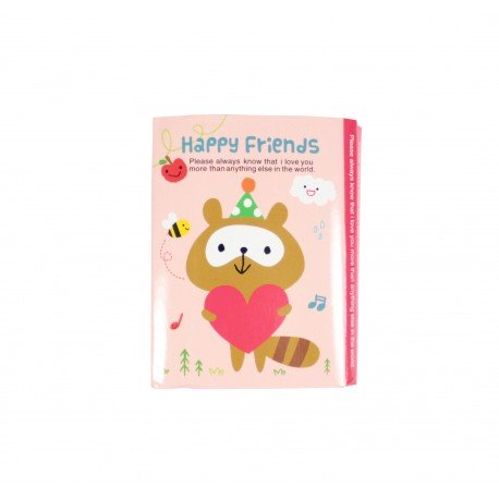 Kit de bloc notes memo et marque pages repositionnables happy friends