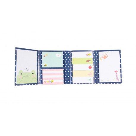 Kit de bloc notes memo et marque pages repositionnables happy friends