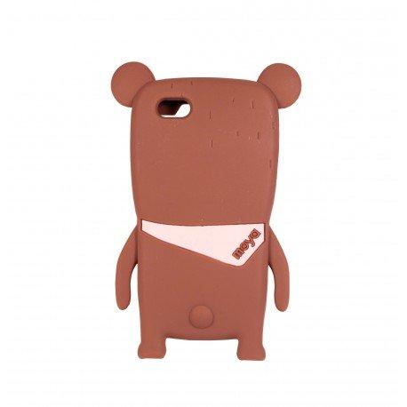 Coque étui téléphone en silicone souple pour iphone 5- 5s-5C et iphone SE ours kawaii 3D