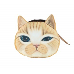 Pochette porte monnaie kawaii chat gentleman