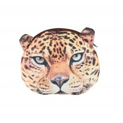Pochette porte monnaie kawaii léopard