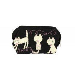 Pochette trousse chats jouent des pelotes de laine