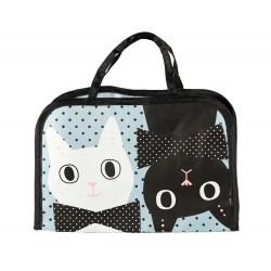 Sac pochette chat kawaii pour bento box