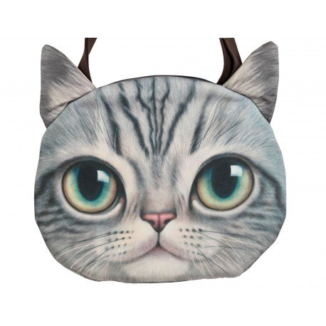 Grand sac porté épaule chat kawaii