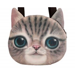 Grand sac porté épaule kawaii chat souriant