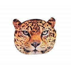 Sac pochette à chaîne kawaii bouille de léopard