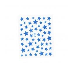 Stickers ongles étoiles pailletées bleues