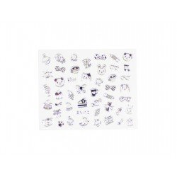 Stickers ongles kawaii ultime couleur argent