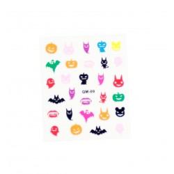 Stickers ongles kawaii fantoms de Halloween