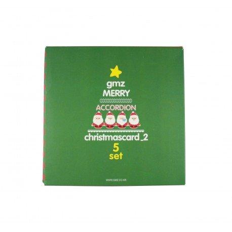 Kit de cartes de voeux kawaii pour Noël - édition verte