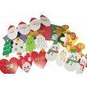 Kit de cartes de voeux kawaii pour Noël - édition rouge