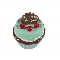 Boîte à bijoux kawaii en forme de cupcake bleu