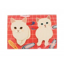 Carte postale illustration Jetoy chat et chaussons