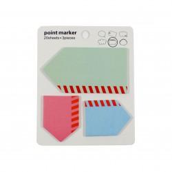 Bloc notes repositionnables Etiquettes vides en forme de flèche