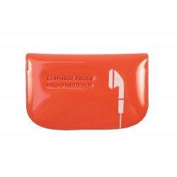 Etui housse pour écouteur design couleur orange
