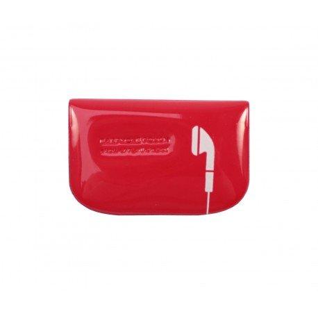 Etui housse pour écouteur design couleur rouge
