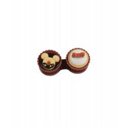 Etui kawaii pour les lentilles de contact gâteaux mikey