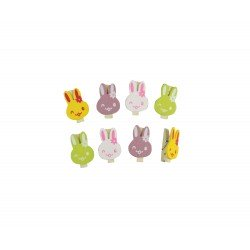 Kit de pinces kawaii lapin