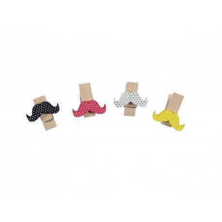 Kit de pinces kawaii moustaches