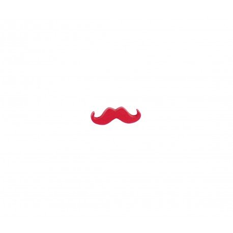 Badge kawaii petite moustache rouge