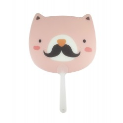 Éventail kawaii moustache
