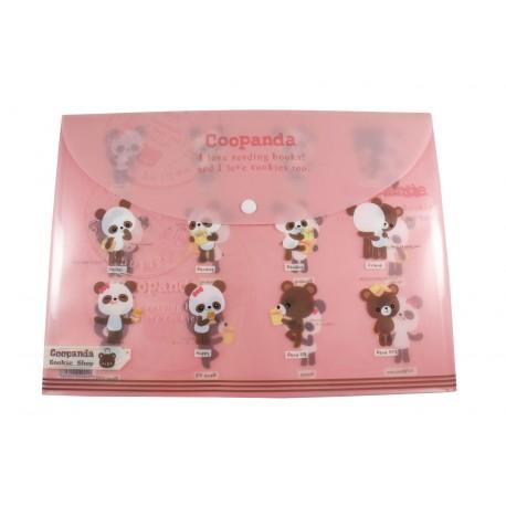 Pochette documents A4 kawaii Coo Panda et ourson