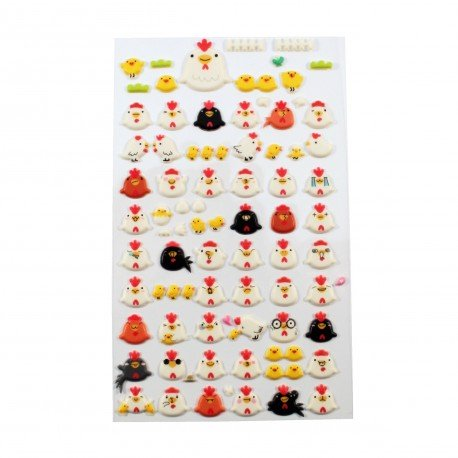 Sticker - poules et poussins