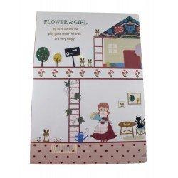 Chemise documents A4 kawaii Petite fille et sa maison