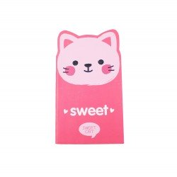 Carnet kawaii chat rose