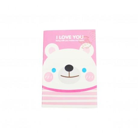 Carnet kawaii Ours blanc