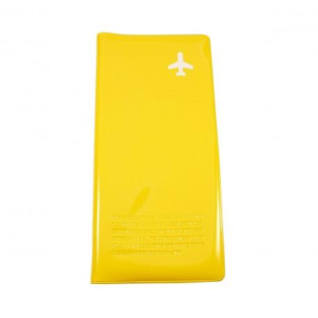 Pochette organiseur de voyage Happy Flight - jaune