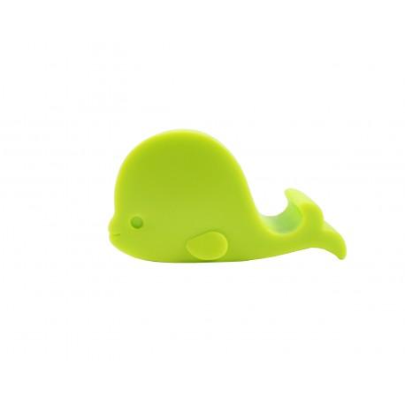 Support téléphone kawaii silhouette de baleine vert