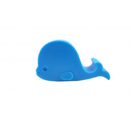 Support téléphone kawaii silhouette de baleine bleu