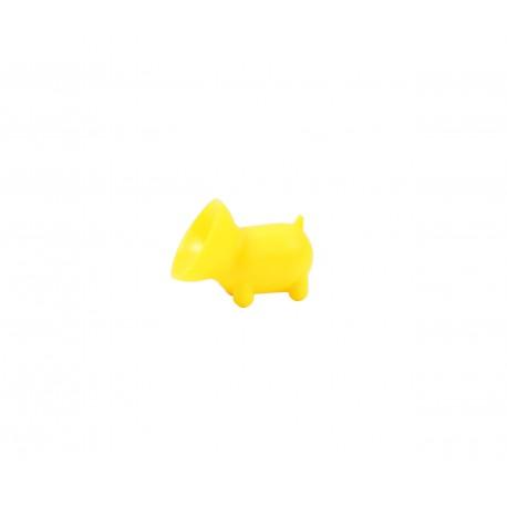 Support téléphone kawaii Mini ventouse cochon jaune