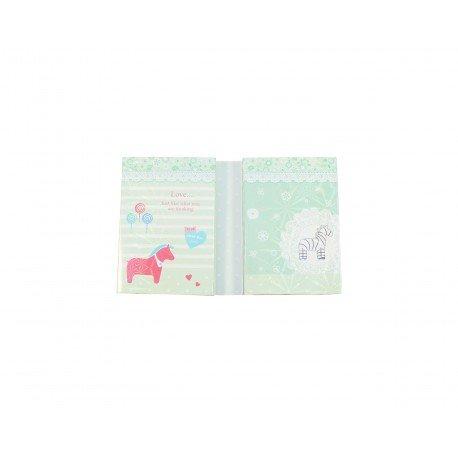 Kit bloc notes memo et marques pages repositonnables kawaii douce enfance